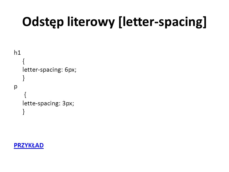 Odstęp literowy [letter-spacing]